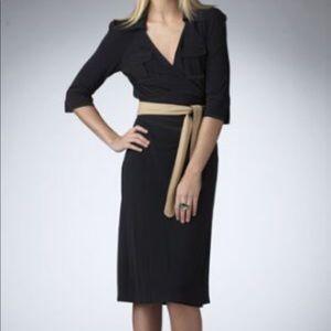 Diane von Furstenberg wrap dress size 6 Black